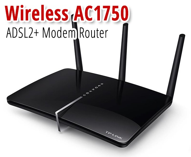 Dual-Band AC1750 Wireless Gigabit ADSL2+ Modem Router