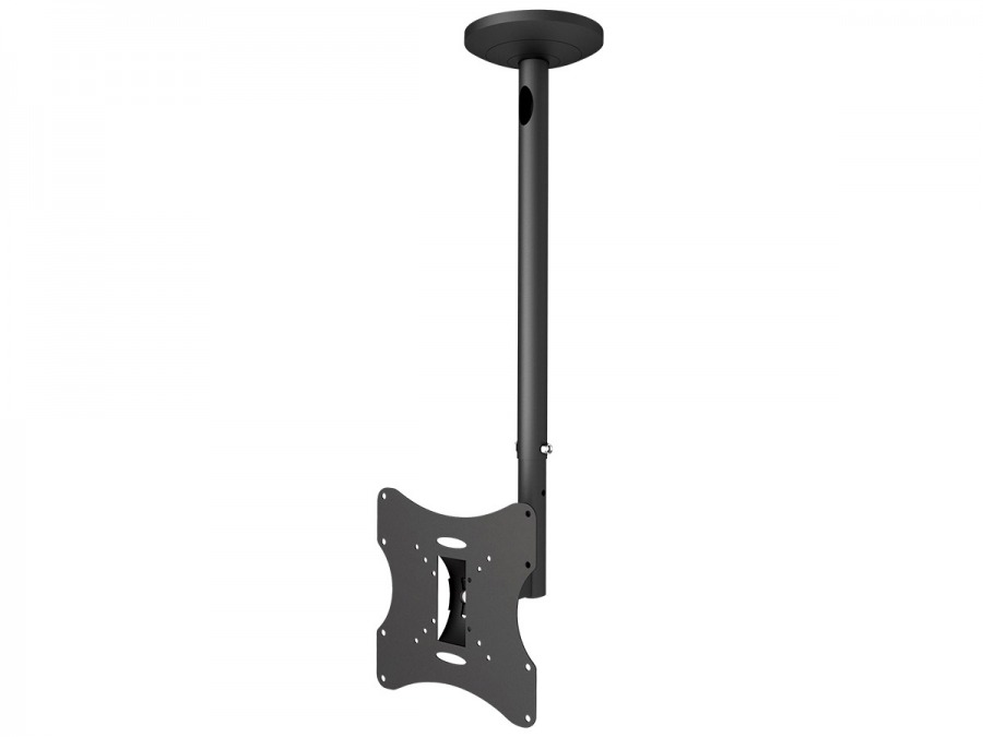 Extendable LCD Monitor Ceiling Mount (30kg Black)