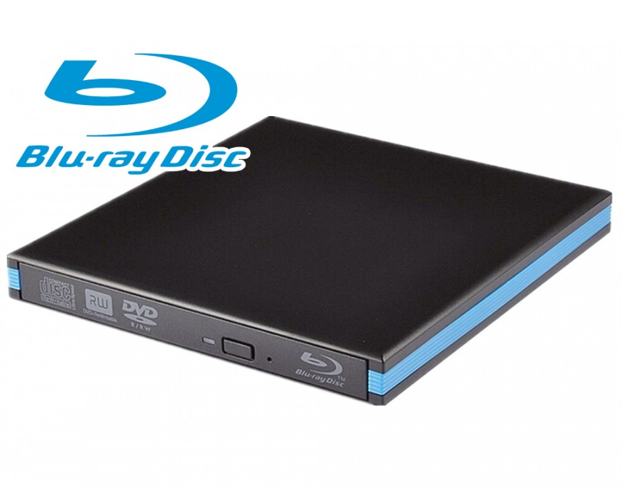 External Blu-Ray, DVD & CD Optical Drive (Read Blu-Ray, Read+Write DVD & CD)