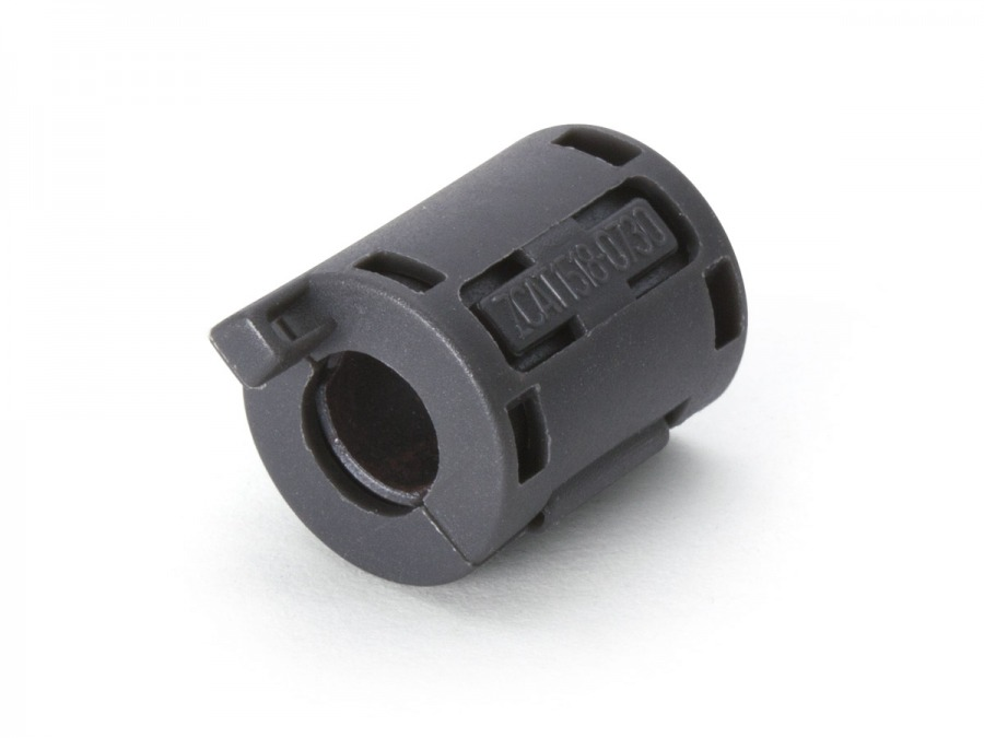 Ferrite Core RFI and EMI Noise Suppressor Cable Clip (7.3mm) (Photo )