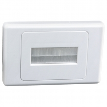 Flush Wall Plate with Brushed Entry for Cables