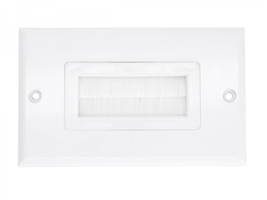 Flush Wall Plate with Single Gang Brushed Entry (Photo )