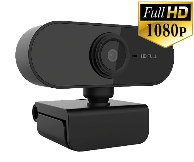 Full HD 1080p USB Webcam (Built-in Microphone - PC & Mac) (Photo )