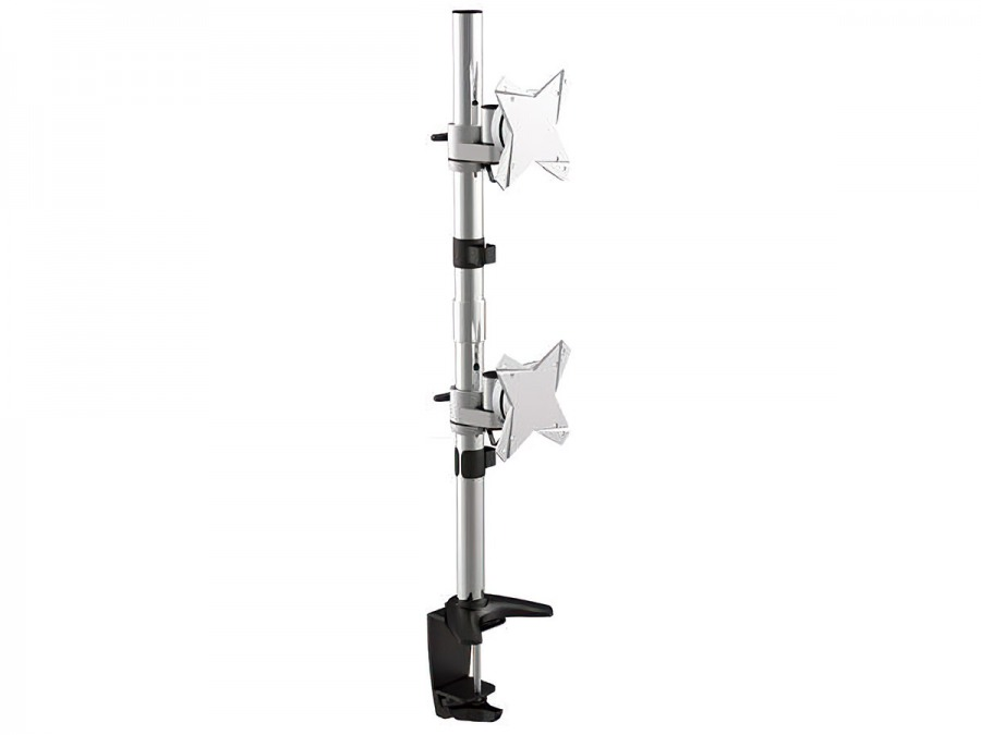 Heavy Duty Dual Monitor Desk Pole-Mount (2x 8kg)