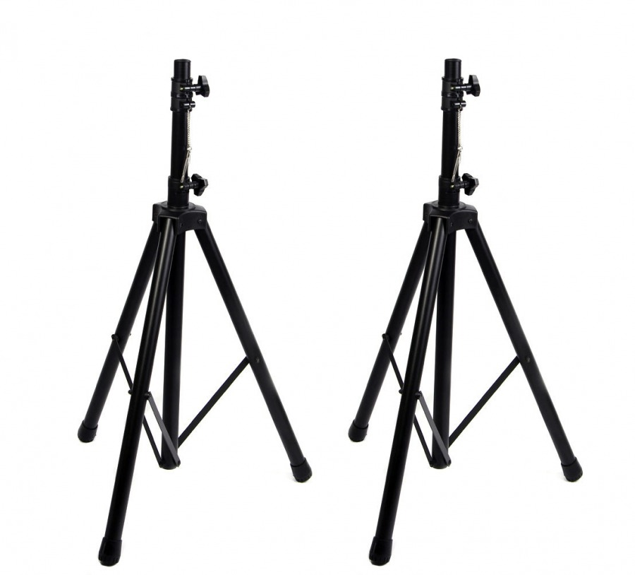 Heavy Duty Tripod PA Speaker Stand + Carry Bag (Set of 2)