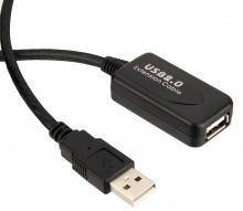 High-End 20M USB 2.0 Repeater Extension Cable (A Male to A Female) (Thumbnail )