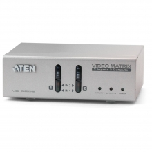 High-End VGA 2x2 True Matrix Switch & Splitter with Audio