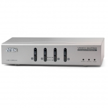 High-End VGA 2x4 True Matrix Switch & Splitter with Audio