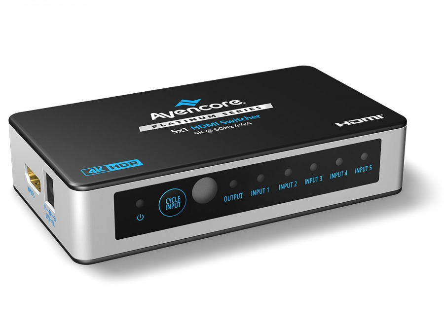 High-End 5-Port Ultra HD 4K/60Hz HDMI Switch (5x1 HDMI 2.0 Switch) (Photo )