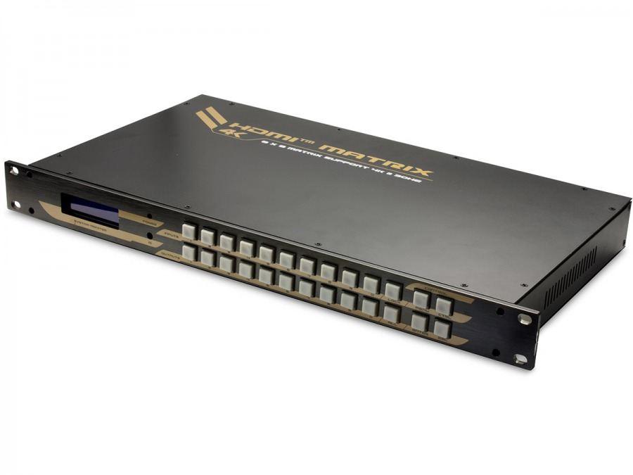 High-End HDMI 8x8 True Matrix Switch & Audio Splitter (Supports Ultra HD 4K@30Hz)