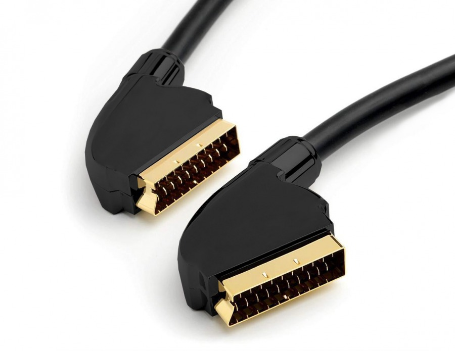 High-End Shielded 1.5m SCART to SCART Cable (Gold Plated) (Photo )