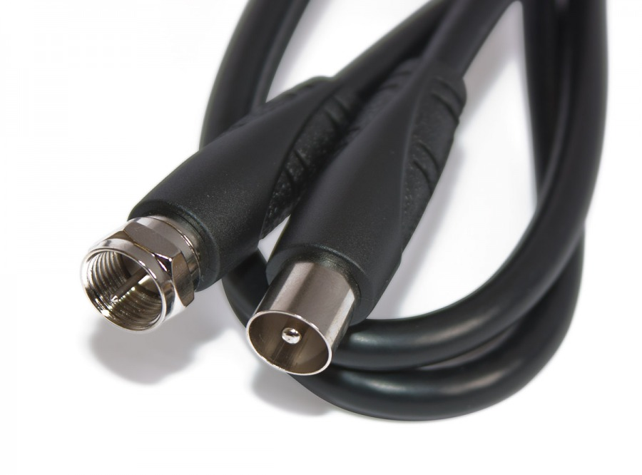 High Speed 1.5m F-Type to PAL TV Antenna Cable (Photo )