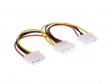Internal 4 Pin Molex Power Splitter Y-Cable