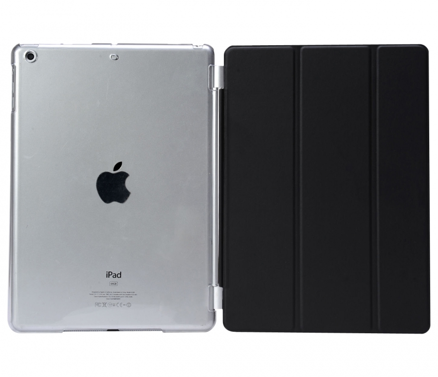 iPad Air 2 Smart Case Magnetic Cover with Protective Clear Back