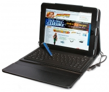 iPad Folio Case with Integrated Bluetooth Keyboard (for iPad Air Models)