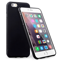 iPhone 6 Plus Soft TPU Gel Case (Black) + FREE iPhone 6 Plus Screen Protector (Thumbnail )