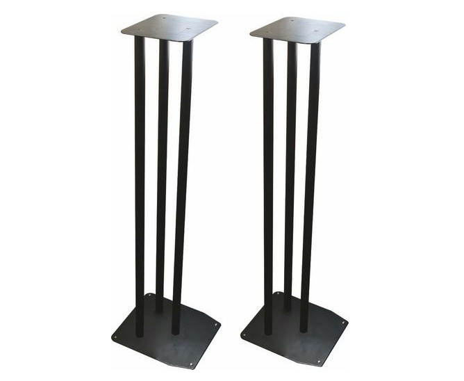 Large 900MM Heavy Duty Black Bookshelf Speaker Stands (Set of 2)