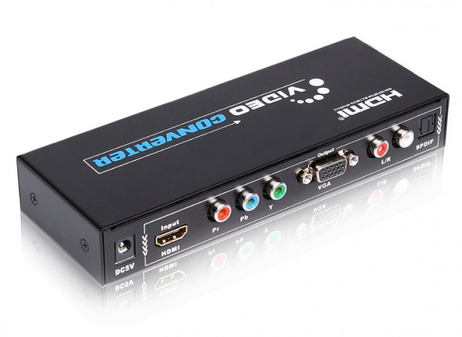 Multi-AV Converter (HDMI to VGA & Component + Audio Extraction)