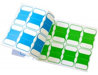 Pack of 100 Adhesive Cable Labels (5 Colours) (Thumbnail )