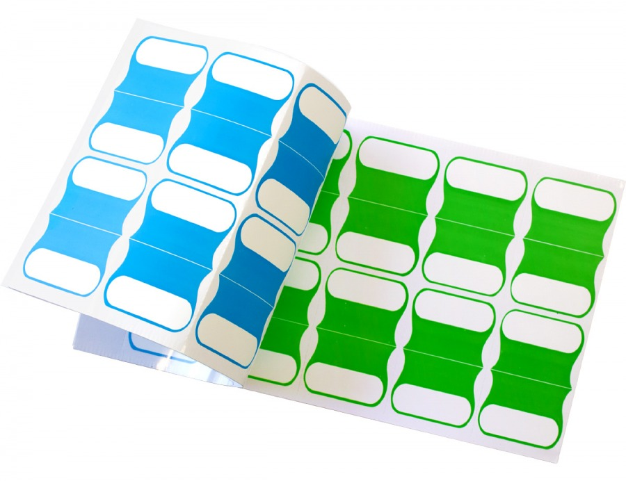 Pack of 100 Adhesive Cable Labels (5 Colours) (Photo )