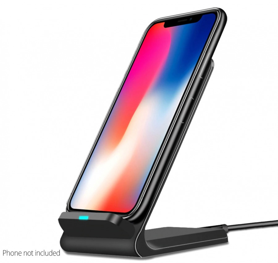 Phone Stand & Wireless 15W QI Charger (Black) (Photo )