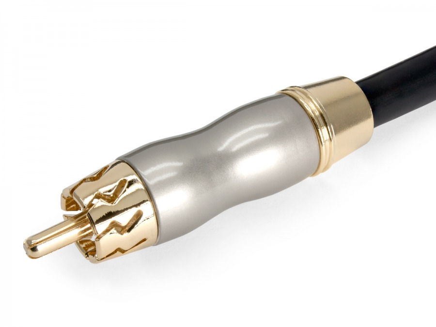 Premium 2m Gold Plated Digital Coaxial Cable/Sub Woofer Lead (Photo )