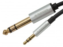 Premium 3m Braided 3.5mm to 6.5mm Stereo Jack Cable