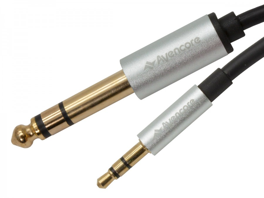 Premium 3m Braided 3.5mm to 6.5mm Stereo Jack Cable (Photo )