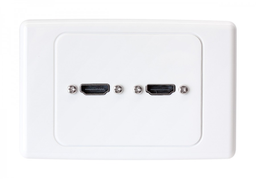 Premium Home Theatre Dual 2x HDMI Wall Plate (Photo )