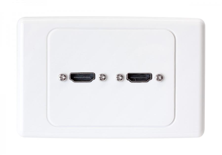 Premium Home Theatre Dual 2x HDMI Wall Plate