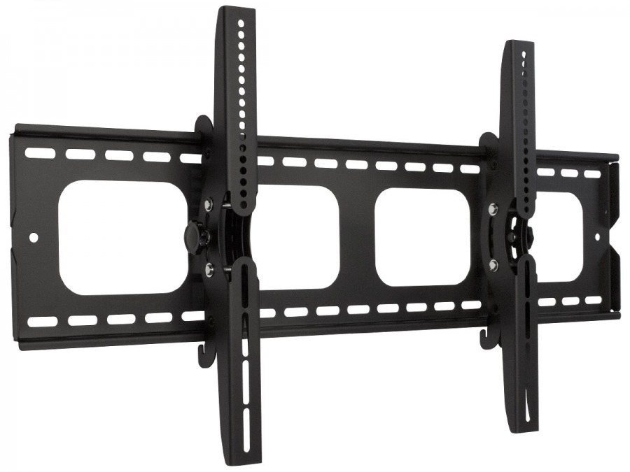 Premium LCD & Plasma TV Wall Mount Bracket with 15 Degree Tilt - 100kg (Black) (Photo )