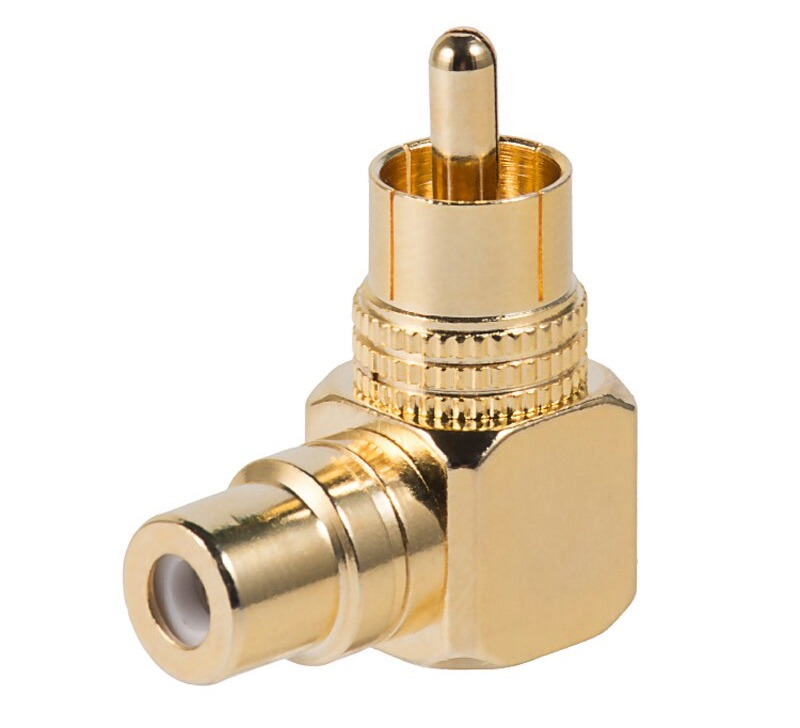 Premium Right-Angled RCA Adapter