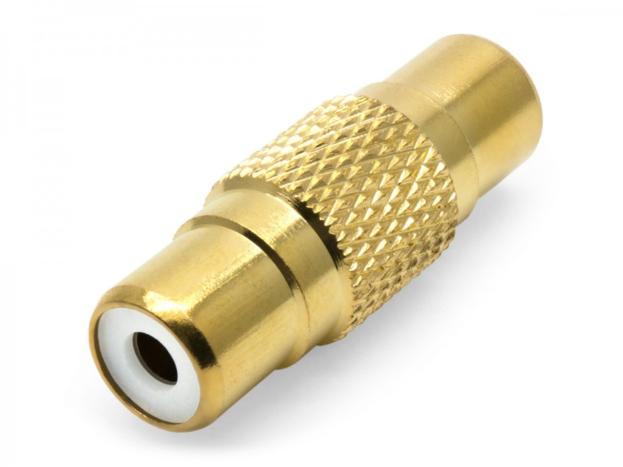Premium Single RCA Coupler (Female to Female)