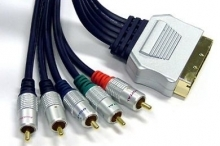 Pro Series 1.5m SCART to Component + L & R Audio Cable (Gold Connectors)