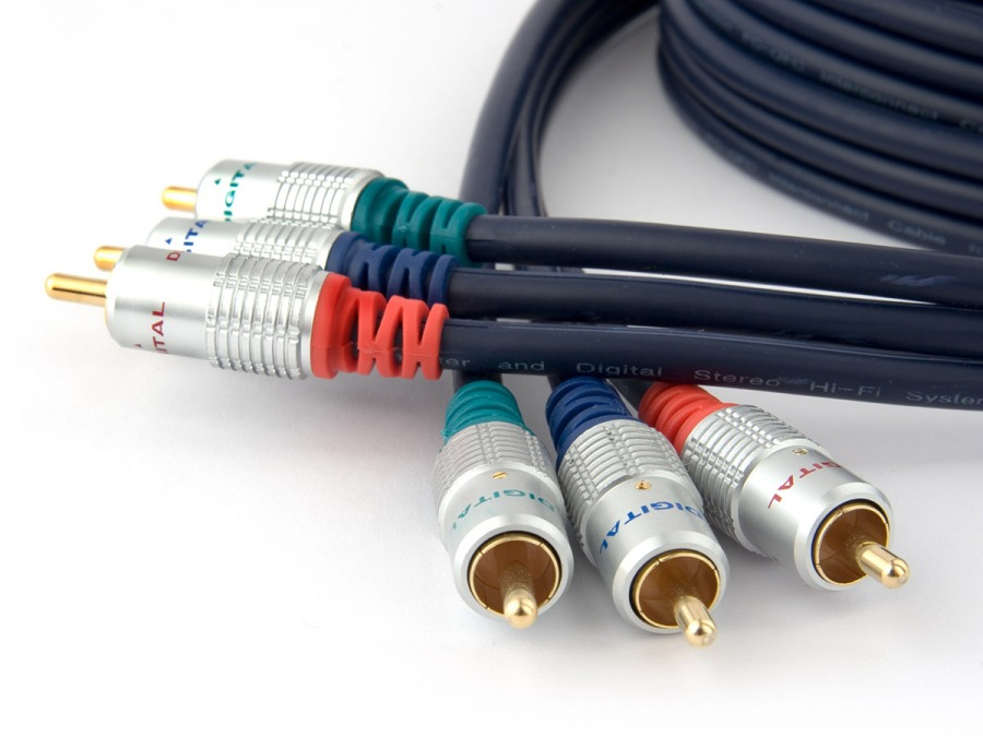 Pro Series 20m RGB Component Cable (3x RCA to 3x RCA)