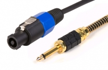 "Pro Series 25m Speakon to 1/4"" connector Speaker Cable (2 Core, Male to Male)"