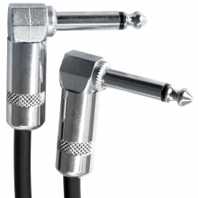 "Pro Series 30cm Right Angled 1/4"" Guitar Effects Pedal Cable (6.5mm Patch Lead) (Photo )"