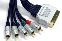 Pro Series 3m SCART to Component + L & R Audio Cable (Gold Connectors)