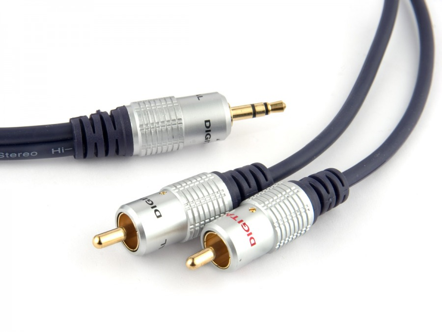 Pro Series Stereo 30m 3.5mm to 2 RCA with GOLD Connectors