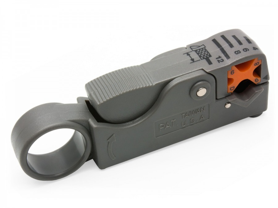 Professional Cabac Coaxial Cable Stripper for RG6 RG59 and RG58