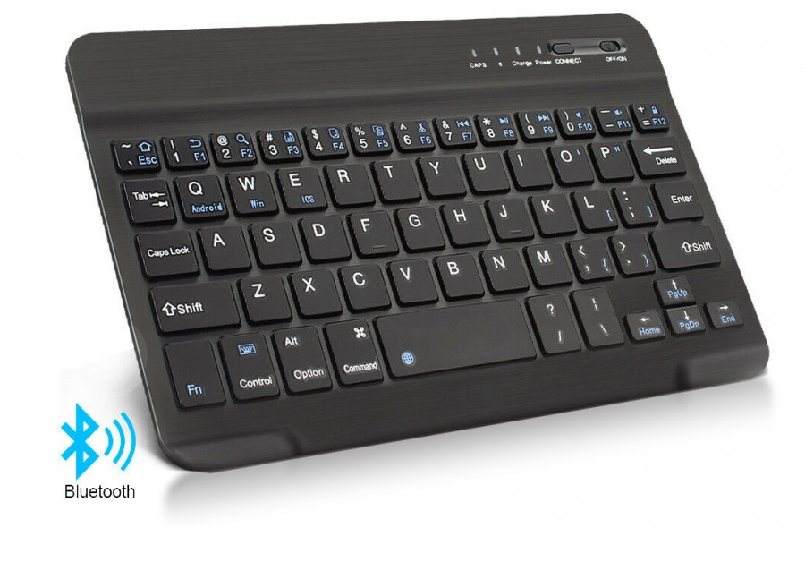 Rechargeable Mini Bluetooth Keyboard (Black) (Photo )