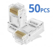 RJ45 8P8C Plug Crimp Terminals (50-Pack) (Thumbnail )