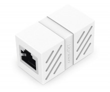 RJ45 Coupler - Female to Female CAT5/6 Coupler Adaptor (White) (Thumbnail )