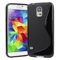 Samsung Galaxy S5 Soft TPU Gel Cover (Black) + FREE Screen Protector