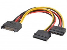 SATA Power Splitter Extension Y-Cable (SATA 2 / SATA 3 Compatible)