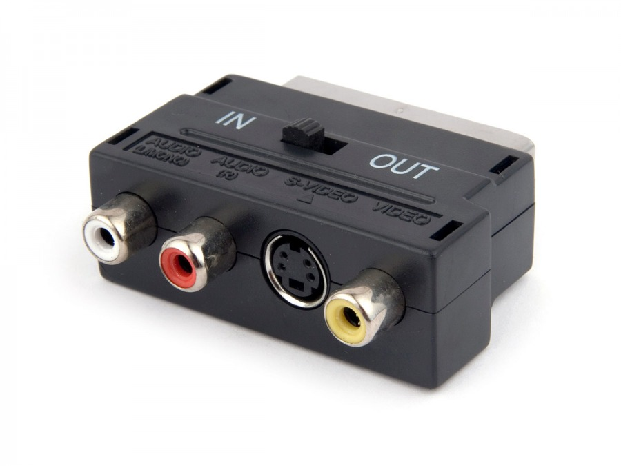 SCART to 3RCA + S-Video Adaptor with Direction Switch (Photo )