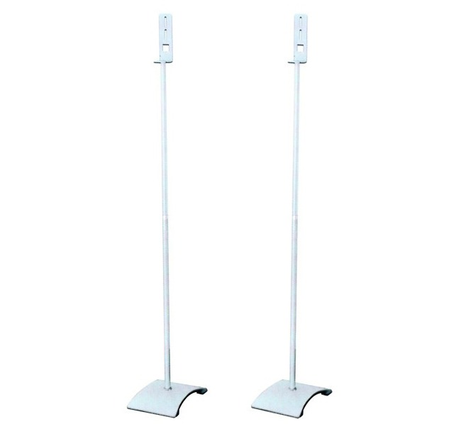 Silver Satellite Speaker Stands (Set of 2)