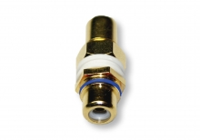 Single RCA Wall Plate Coupler, Blue Indicator (Gold Plated)