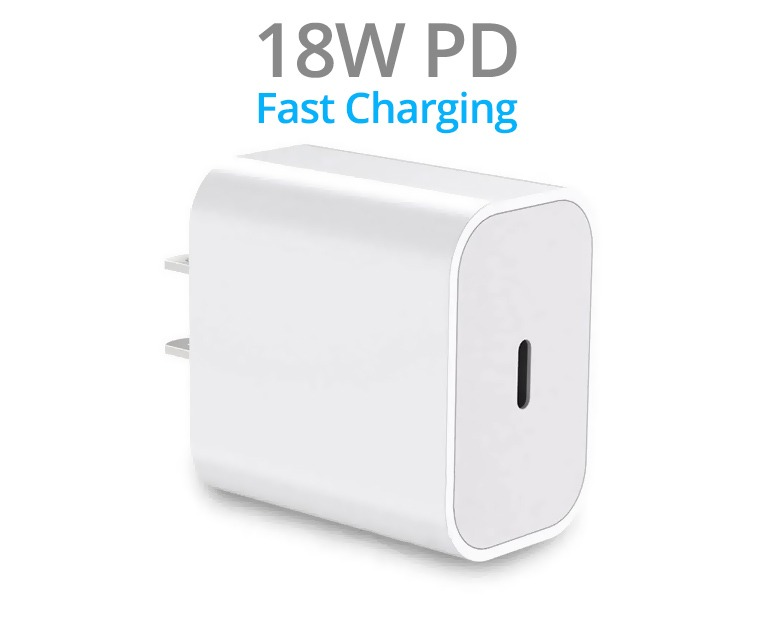 Single Socket 18W PD USB-C Wall Charger (5V/3A) (Photo )