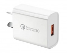 Single Socket Qualcomm Quick Charge 3.0 USB Wall Charger (5V/3A)